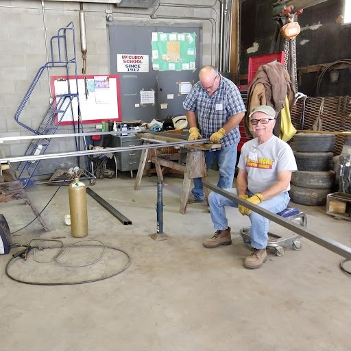 Chris Moody and Steve Smith fabricating a new gate